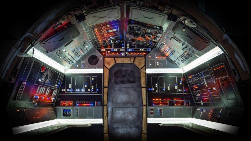 Vue d'ensemble du cockpit intérieur